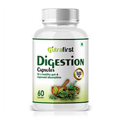 Nutrafirst Digestion Capsules 500mg for Acidity and Constipation – 60 Capsules