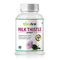 Nutrafirst Milk Thistle (Silymarin) Extract 500mg for Fatty Liver – 60 Capsules