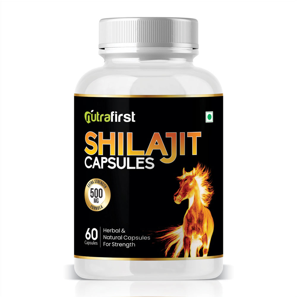 Nutrafirst Shilajit Extract 500mg for Vigour, Stamina and Power – 60 Capsules