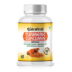 Nutrafirst Turmeric Curcumin Capsules 500mg for Skin and Joint Pain – 60 Capsules