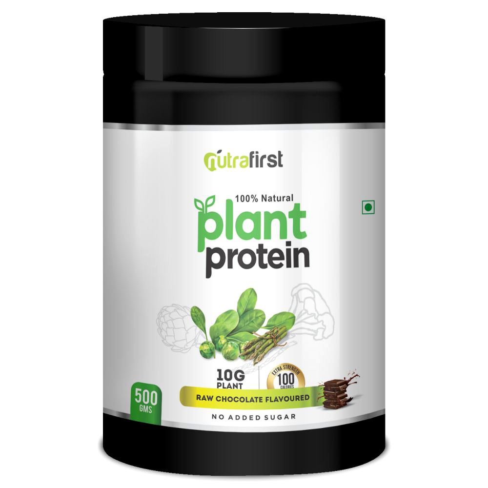Nutrafirst Natural Plant Protein in Raw Chocolate Flavour – 500gms