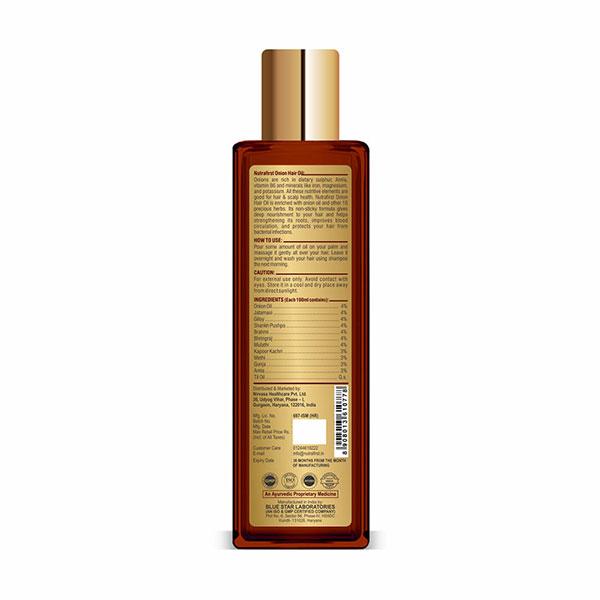 Nutrafirst Onion Hair Oil with Brahmi, Bhringraj, Amla – 100ml