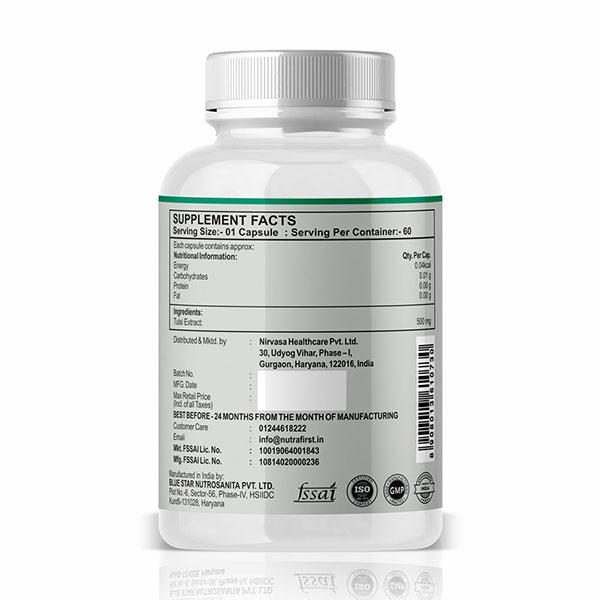 Tulsi Capsules to Boost Immunity & Improve Respiratory Health 60 Vegetarian Capsules